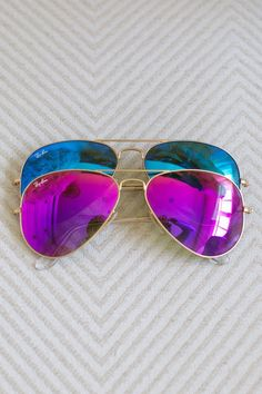 Ray Ban Mirrored pink and blue shades