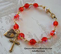 Unbreakable Rosary Bracelet Confirmation by julieharrison on Etsy, $32.00