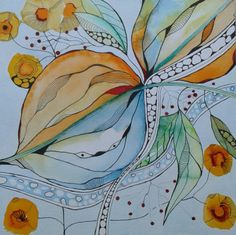 Watercolor and ink Painting Ink Painting Painting Painting Painting Painting Media Painting Painting Pen And Watercolor, Abstract Watercolor, Watercolor Flowers, Watercolor Paintings, Watercolors, Art Aquarelle, Inspiration Art, Guache, Alcohol Ink Art