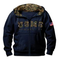 Your Marine spirit will turn heads when you wear this USMC men's hoodie. Shop Now!