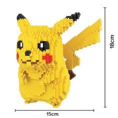 Hcマジックブロックビッグサイズポケモン行くdiyの建設用れんが·ポケモン3dオークション図ピカチュウマイクロブロック子供のおもちゃ女の子のギフト9009