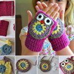 Crochet Owl Mittens Cute Crochet Baby Owl with Free Pattern and Tutorial Bonnet Crochet, Crochet Diy, Crochet Gloves, Crochet For Kids, Crochet Crafts, Crochet Projects, Crochet Boots, Crochet Winter, Owl Patterns