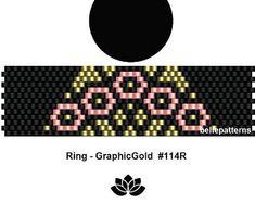 peyote ring pattern,PDF-Download, #114R, beading pattern, beading tutorials, ring pattern