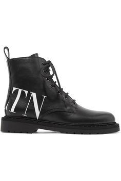 c98c079690fa Valentino - Valentino Garavani logo-print leather ankle boots