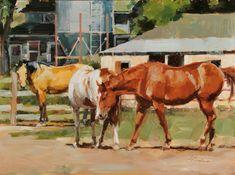 Lindsey Bittner Graham, Trio, oil, 12 x - Southwest Art Magazine Animal Paintings, Horse Paintings, Acrylic Painting Techniques, Horse World, Horse Drawings, Southwest Art, Equine Art, 2d Art, Western Art