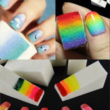 6pcs/lot New Woman DIY Creative Nail Polish Nail Art Tools Salon Nail Sponges For Acrylic Makeup Manicure Nail Art Accessory //FREE Shipping Worldwide //
