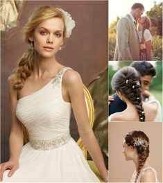 elegant braided ponytail for wedding by clip on medium brown colored hair extensions