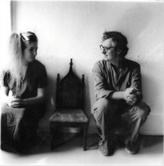 Francesca Woodman and her dad, 1980