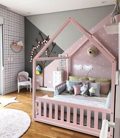 Pink is the perfect colour for girl's bedroom! Discover more pink inspirations with Circu furniture for kids' bedroom: CIRCU. Baby Bedroom, Baby Room Decor, Girls Bedroom, Bedroom Decor, Deco Kids, Toddler Rooms, Little Girl Rooms, Trendy Bedroom, Modern Bedroom