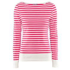 H&M Pink White Stripe Long Sleeve Top Worn a few times, still in great condition. Pink and white striped, long sleeve, boat neck. Buttons at sleeves.❌NO TRADES OR PAYPAL❌ H&M Tops Tees - Long Sleeve
