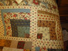 """Quilt & Cushions for my Stepdaughter Victoria - Using Moda """"Collection for a Cause - Love"""" Mini charm packs (2 1/2"""" squares) + complimentary Moda Fabrics - Close up of Border"""