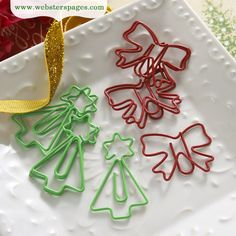 Websters Pages - A Christmas Story Collection - Paperclips - Bows and Star Trees at Scrapbook.com