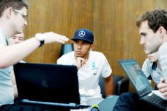 Plotting a Grand Chelem i. pole position + the fastest lap + leading every lap of the race + race this weeeeekend Lewis Hamilton, Captain Hat, Racing, Positivity, Lace