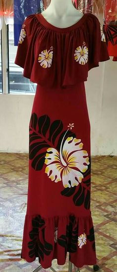 Hawaiian Wear, Hawaiian Fashion, Island Wear, Island Outfit, Samoan Dress, Tropical Dress, Princess Style, African Fashion Dresses, Tahiti