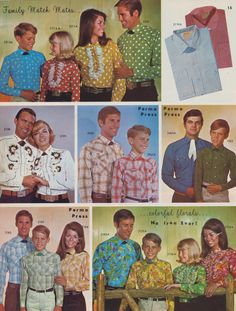 1969 Family Match Mates, western shirts