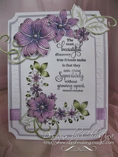 Flowers, Ribbons and Pearls: Stamped and Colored ...