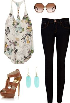 I'm not that into florals but this top looks like water color and love mixing it with the black skinny jeans