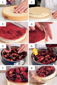 Ovocný dort se želé recept léto - ApetitOnline.cz Czech Desserts, Sweet And Salty, Healthy Cooking, How To Make Cake, Cheesecake, Deserts, Food And Drink, Baking, Fruit