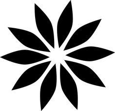 'flower icon, flower' Poster by Danler flower icon, flower by Danler Fabric Paint Designs, Stencil Designs, Stencil Painting, Fabric Painting, Deco Cuir, Scroll Pattern, Flower Template, Mosaic Art, Flower Patterns