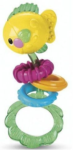 FISHER Price Ocean Wonders Fish Dumbell Rattle This cute little fishy friend is easy for baby to grab and shake. And the textured rattle beads stimulate babys sense of touch.... (Barcode EAN=0027084178876) http://www.MightGet.com/january-2017-12/fisher-price-ocean-wonders-fish-dumbell-rattle.asp
