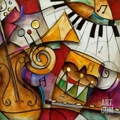 JAZZ IT UP I Art Print|By Eric Waugh