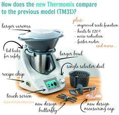 Features of the new Thermomix kitchen appliance launched in 2014 by Vorwerk Kitchen Items, Kitchen Gadgets, Tapas, Pandan Chiffon Cake, Kitchen Machine, Chips Recipe, New Kids, Drip Coffee Maker, Espresso Machine