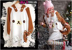 Lolita CuTie Rilakkuma sailor gallus Broad shoulder tunic T-shirt Y