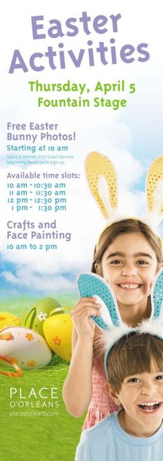FREE Easter Activities April 5th!