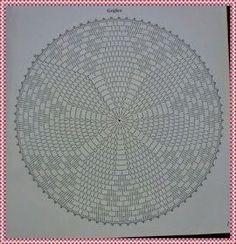 Toalhinha de Crochê com Gráfico