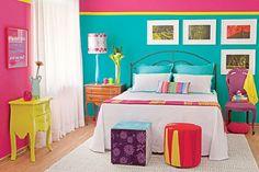 15 Inspiring Color-Blocked Interiors via Brit + Co.