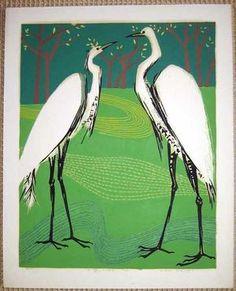 Not dated - Kasamatsu, Shiro - : Herons