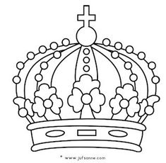 Online Coloring Pages, Coloring Book Pages, Coloring Sheets, Baby Drawing, Line Drawing, Coloring For Kids, Adult Coloring, Crown Stencil, Christmas To Do List