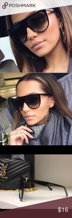 Big Flat Tap Sunglasses Black Big Flat Tap Sunglasses Black High quality Accessories Sunglasses