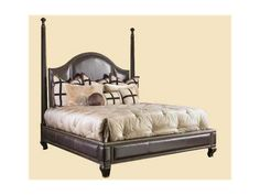 Marge Carson Bedroom Cross Channel Low Post Bed CRC91   Kathy Adams  Furniture And Design