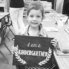 First day of Kindergartner sign- chalkboard