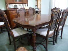 Vintage Or Antique Dining Room Table U0026 10 Chairs By Yellowfinch, $999.00  Nearly Perfect Match