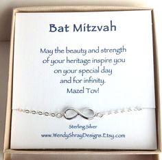 Bat Bat Mitzvah gift, Infinity charm bracelet, sideways 925 sterling silver figure 8, Hanukkah, minimalist jewelry, B102