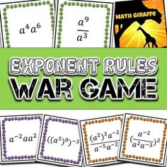 This differentiated game helps your students practice Product Rule, Power Rule, and Quotient Rule with single-variable expressions.  This format is great for getting your class really comfortable with the basic Laws of Exponents before introducing more difficult Exponent Rules.