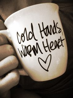 FREE SHIPPING Cold Hands Warm Heart Coffee Mug by LifebytheDay, $18.00