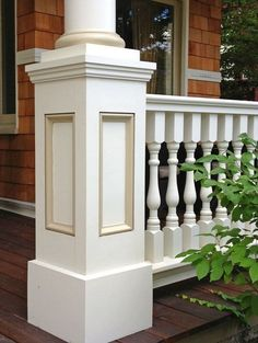 """Traditional Cedar Porch Spindles, Turned Balusters, Colonial & Victorian Porch Railings - Western Spindle,2 1/2"""" Victorian Porch Spindles, 6"""" class 4-piece Porch Rail System in Pittsburgh, PA"""
