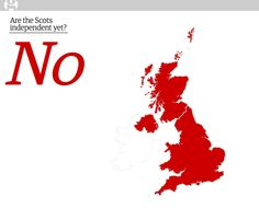 The Guardian created a minimalist, bespoke website for readers around the world to follow #indyref Scottish independence referendum in mid-September http://www.arethescotsindependentyet.com/