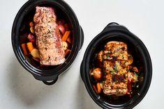These 5 slow cooker dump dinners all make themselves pork Crockpot Dump Recipes, Pork Recipes, Slow Cooker Recipes, Cooking Recipes, Healthy Recipes, Crockpot Dishes, Slow Cooking, Free Recipes, Pork