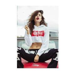Miley Cyrus | DimePiece Logo Cropped Hoodie Sweatshirt ($40) ❤ liked on Polyvore featuring tops, hoodies, cropped hoodies, logo hoodies, sweatshirt hoodies, short crop tops and crop top