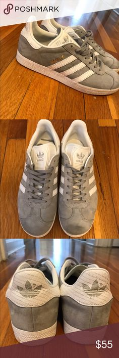 Adidas original Gazelle size 7 Gray/white/gold. Size 7. Lightly worn. No longer have original Box. adidas Shoes Athletic Shoes