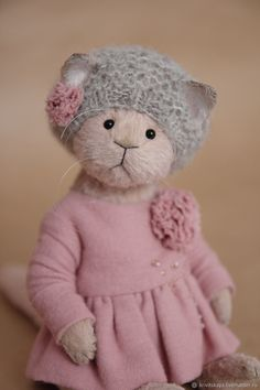 Teddy Cat Magalie – shop online on Livemaster with shipping