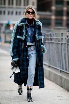 Неделя моды в Нью-Йорке, осень-зима 2016: street style. Часть 4 (фото 25)