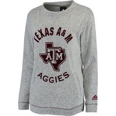 589d2eb6fc3bf Women s adidas Gray Texas A M Aggies Slouchy Crew Sweatshirt