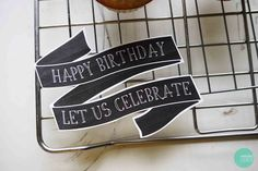 Free Printable Chalkboard Birthday Cake Banner @ mintedstrawberry.blogspot.com