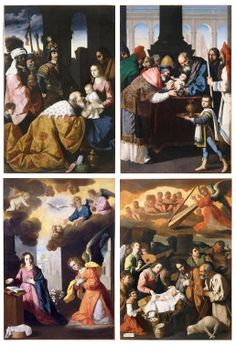 Francisco de Zurbarán The Adoration of the Magi The Circumcision of Christ The Annunciation The Adoration of the Shepherds Four paintings (ca. 1638-40) from the plundered altarpiece from the Monastery of Nuestra Señora de la Defensión, Jerez de la Frontera, Spain (Musée de Grenoble, France)