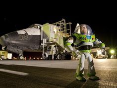 Disney's Buzz Lightyear really did go to infinity and beyond. See his space mission photos here.